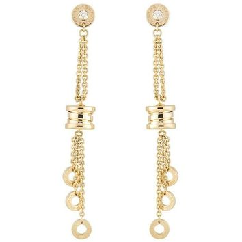 Bulgari Yellow Gold Diamond B.Zero1 Drop Earrings d7422c025e