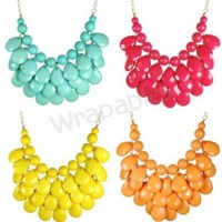 Wrapables Teardrop Bubble Bib Necklace
