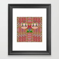 lady panda in the enchanted forest with magic flowers Framed Art Print by Pepita Selles