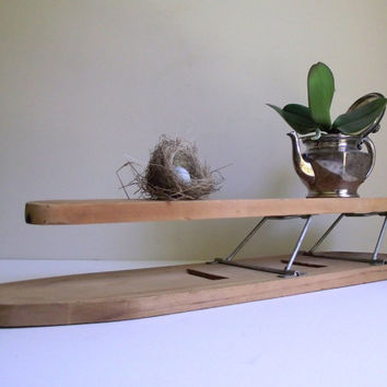 Vintage Ironing Board / Fold Up Sleeve Board / Sleeve Ironing Board / Vintage Home Decor / Laundry Room Decor / Repurposed Display Shelf