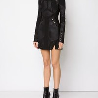 Mugler Eyelet Detail Panelled Dress - The Webster - Farfetch.com