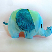 Tie Dye Elephant Plush Toy: Blue Pink and Purple