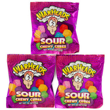 WarHeads Sour Chewy Cubes Candy Snack Packs: 5LB Bag