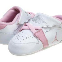 Nike Jordan 1ST Baby Crib (CB) Shoes White/Pink 370305-162 air jordans in white