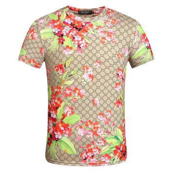 Gucci  Fashion Casual Men Print Short Sleeve Shorts Set Two-Piece  G-A00FS-GJ
