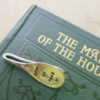 Born to Read - Book Mark Vintage Hand Stamped Engraved Teaspoon Page Clip