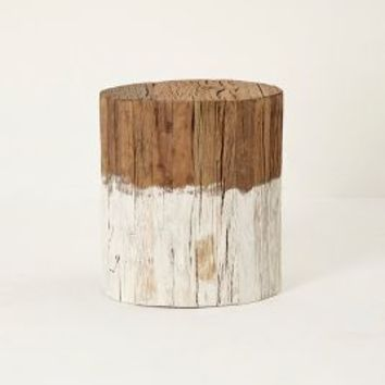 Reclaimed Wood Side Table by Anthropologie