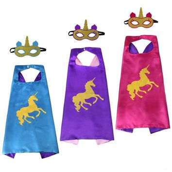 Unicorn Capes with Masks Costume Unicorn Birthday Party Favors Unicorn Dress Up Girls Party Cosplay