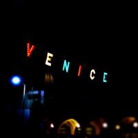 Venice Sign At Night