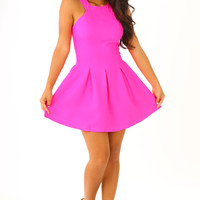 The Sierra Dress: Fuchsia