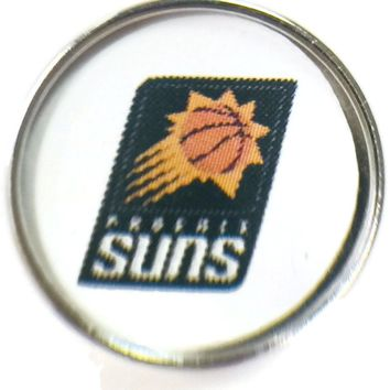 NBA Basketball Logo Phoenix Suns 18MM - 20MM Fashion Snap Jewelry Snap Charm New Item