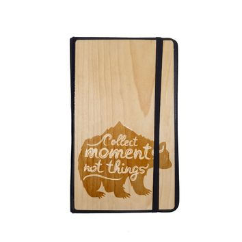 Collect Moments - Wooden Journal