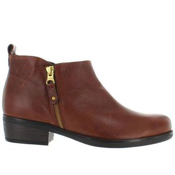 Eric Michael London   Brown Leather Side Zip Bootie