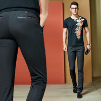Summer Men Casual Slim Cotton Korean Men's Fashion Pants [6541362115]