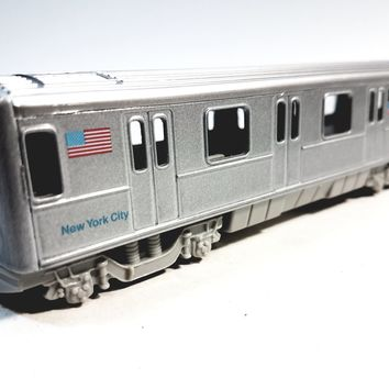 "SF Toys NYC New York City METRO Line Train Subway Car 7"" Diecast"