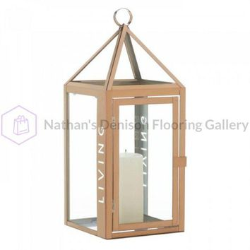 Large Rose Metal Living Lantern
