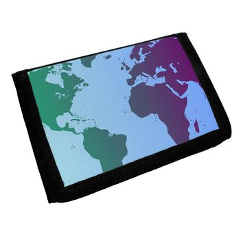 Cool World Map Design Trifold Wallet All Over Print