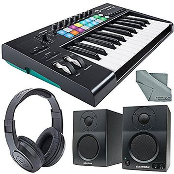 Novation Launchkey MK2 25-Key USB MIDI Keyboard Controller & Stereo Pair Bluetooth Monitor Bundle