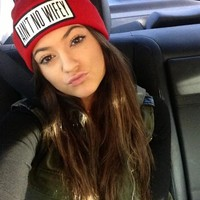 Ain't No Wifey Wooly Beanie Hat Black Red Knitted Kylie Jenner Kim Kardashian