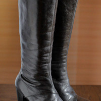 Italian black platform boots 90's Club Kid