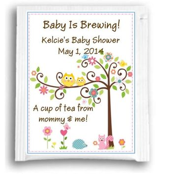 10 Happi Tree Owl Baby Shower and Birthday Party Tea Favors