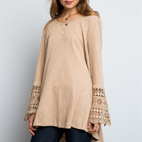 Bridget Lace Bell Sleeve Top