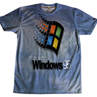 Windows 95 Vaporwave Seapunk Tshirt Two Sided Clothing
