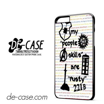 Herlock Supernatural And Dean And Cas DEAL-5261 Apple Phonecase Cover For Iphone 6/ 6S Plus