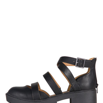 Ballerina Strappy Cut Out Sandal Booties - 9