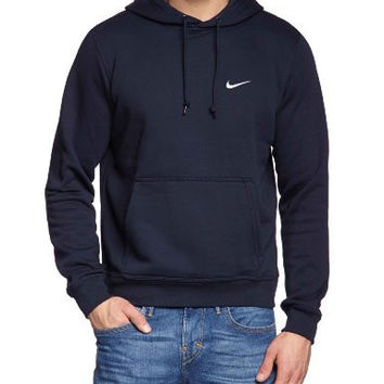 Nike Mens Club Pull Over Hoodie Obsidian Navy Blue/White 611457-473 Size Large