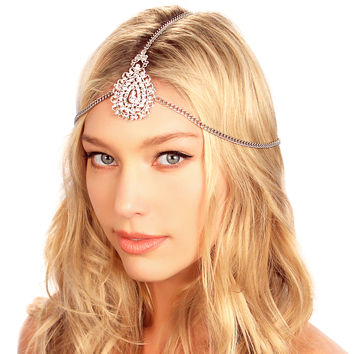 Crusted Medallion Chain Headpiece