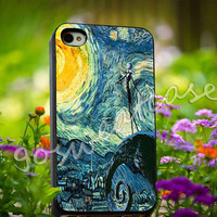 Starry Nightmare Before Christmas - for iPhone 4/4s, iPhone 5/5s/5C, Samsung S3 i9300, Samsung S4 i9500 Hard Plastic Case