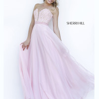 Romantic Sherri Hill Long Chiffon Prom Gown 32180