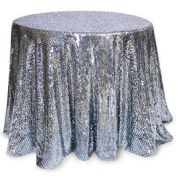 Christmas Tablecloth - Silver Sequins