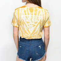 Vans Triangle Yellow Cloudwash Boyfriend T-Shirt | Zumiez