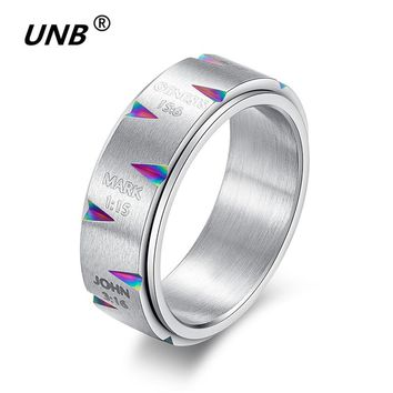 Jesus Spinner Rings for Women Fashion Time Letter 3 Style Men's Ring Wedding Stainless Steel Jewelry Best New Gift Drop Shipping