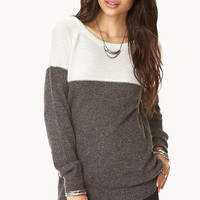 Contrast Boyfriend Sweater