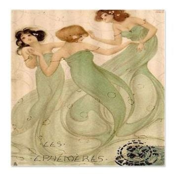 Vintage French Mermaid Shower Curtain> Coastal, Vintage and Urban Chic Shower Curtains> Rebecca Korpita Coastal Design