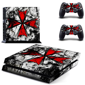 Resident evil Skin Vinyl Skins Sticker For Sony PS4 PlayStation 4 and 2 Controllers Skins Cover GCTM0094