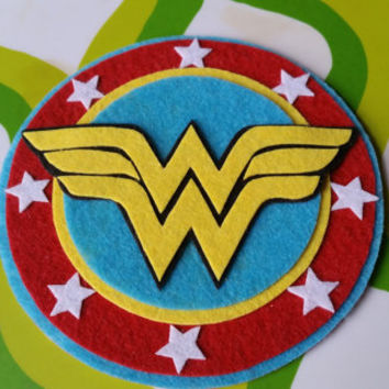 Wonder Woman Inspired Adhesive Patch / Magnet- Superhero Sticky Felt Patch / Sticker