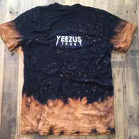 Yeezus Tour Bleached Tie Dye Tee Yeezy Tour Merch T-Shirt