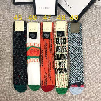 GUCCI Lurex Splice Graffiti Socks
