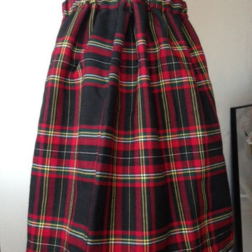Kawaii Gyaru Tartan Plaid Naughty School Girl Mini Circle Skirt