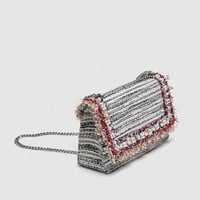 FABRIC CROSSBODY CLUTCH DETAILS