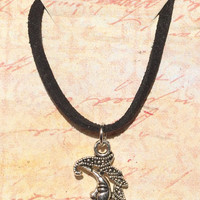 Crescent Moon Choker (faux suede cord)