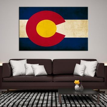 19333 - Colorado Flag Wall Art Canvas Print, Colorado State Flag Art Canvas Print, Large Wall Art Colorado Flag Canvas Print