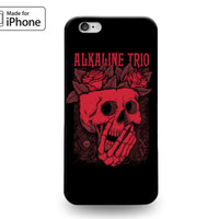 Red Black Skull Alkaline Trio Rose Rubber Case for iPhone 7 6s 6 Plus 5s 5 5c SE