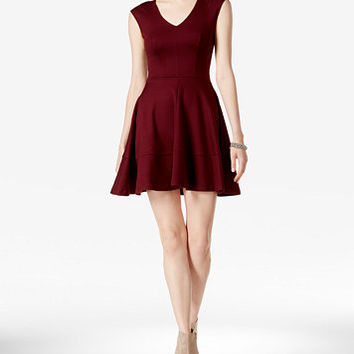Bar III Cap-Sleeve Fit & Flare Dress, Only at Macy's | macys.com