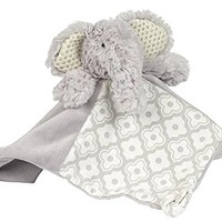 "Maison Chic Emerson The Elephant Blankie Plush, Grey, 12"" x 12"""