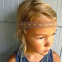 Bohemian Lace Headband. Hippie Headband. Child.